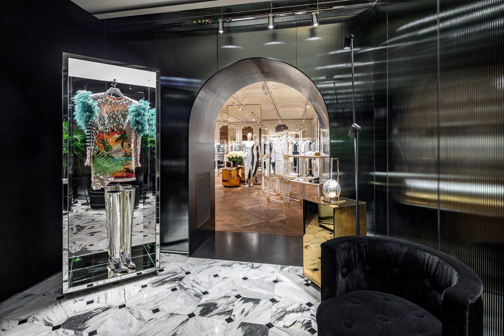 Interior of Balmain Flagship Store Saint Honoré, Paris - Designed by Studio AMV