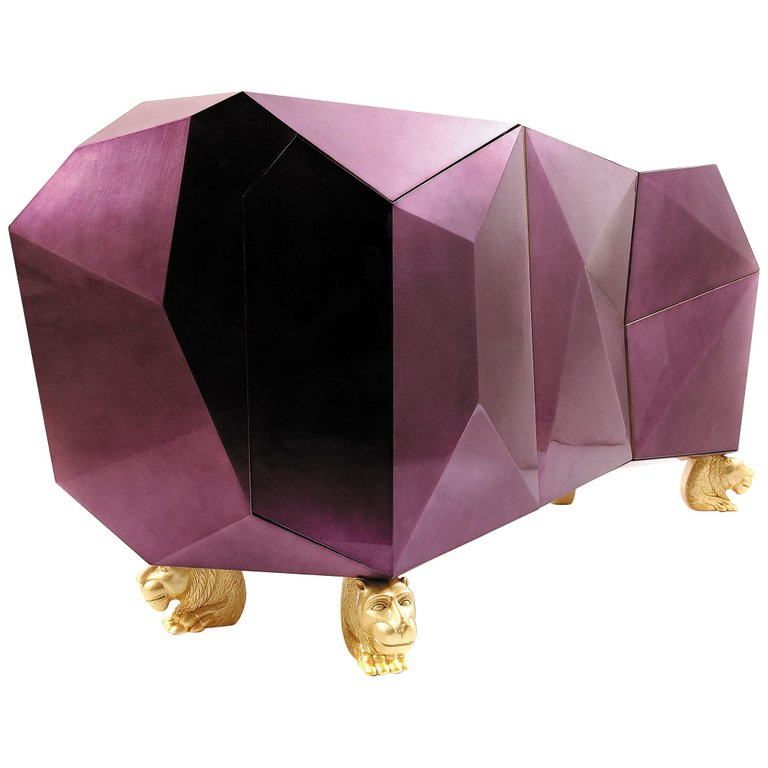 diamond sibeboard in amethyst by boca do lobo - camp and kitsch furniture