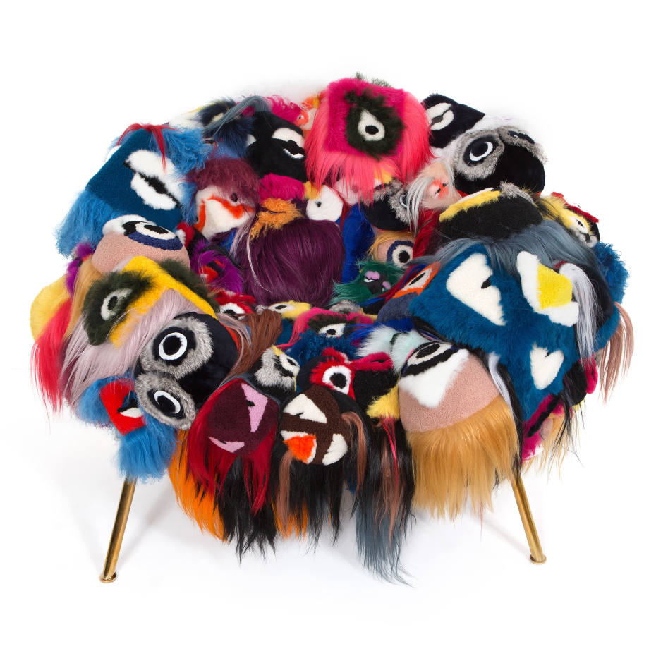 Armchair of Thousand Eyes by Campana Brothers for Fendi Casa - camp and kitsch at home