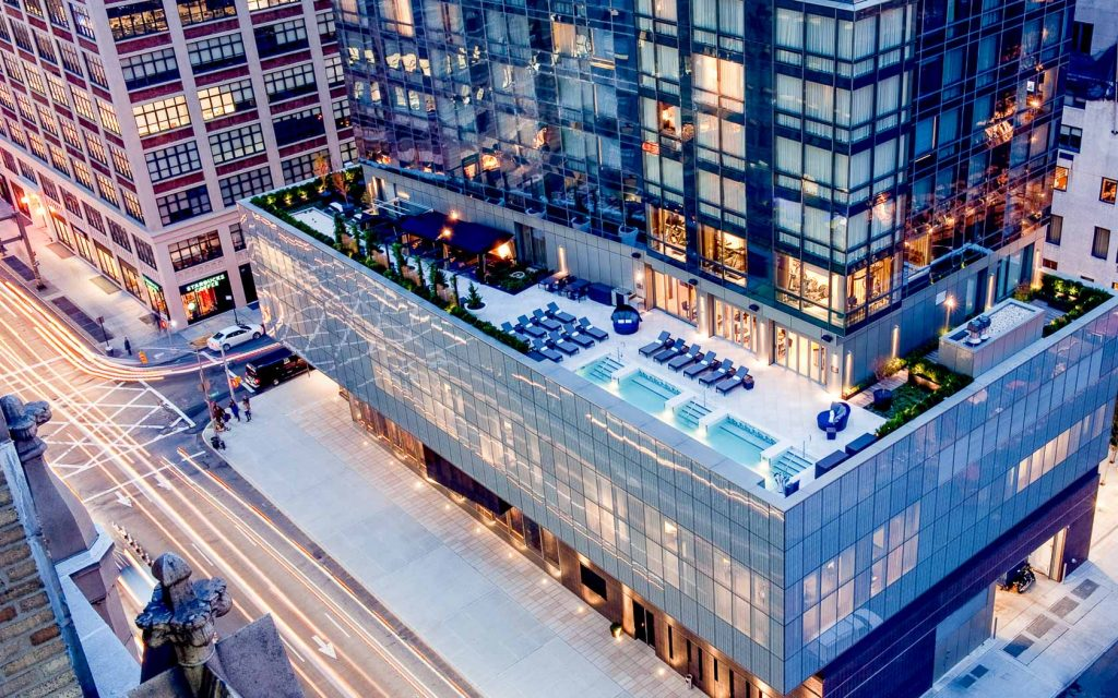 best rooftop bars in nyc - bar d'eau at the dominick hotel