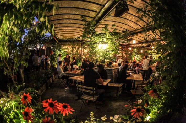 Best Rooftop Bars in NYC - Gallow Green at mckittrick hotel
