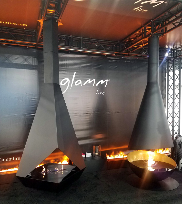 glamm fire fireplaces at icff 2019