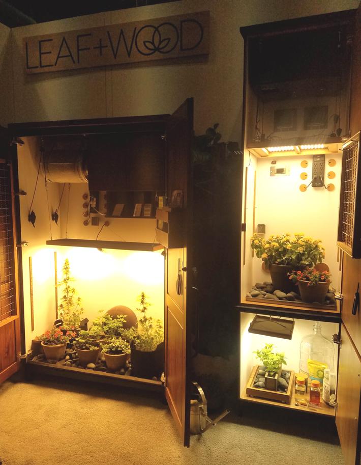 lead and wood grow cabinets icff 2019