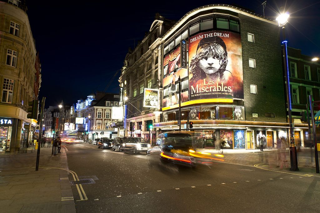view of the west end london - theatreland - 48 hour luxury trip to london
