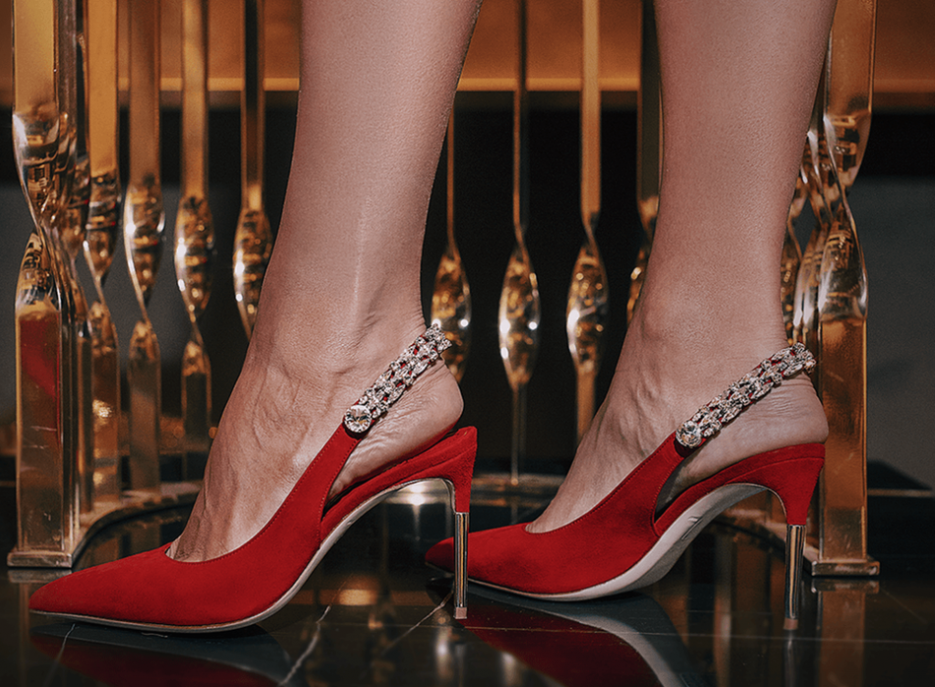 Luis Onofre Shoes and KOKET Mandy Stool history of high heels