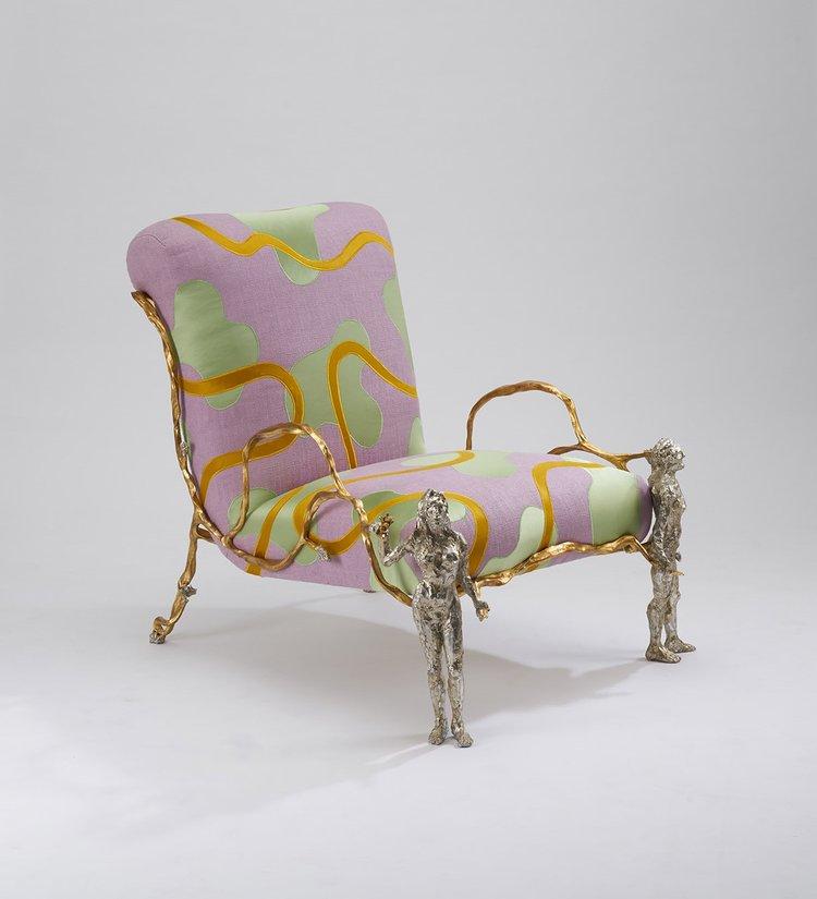 Armchair 'Elle & Lui', 2017 by Mattia Bonetti - camp and kitsch furniture