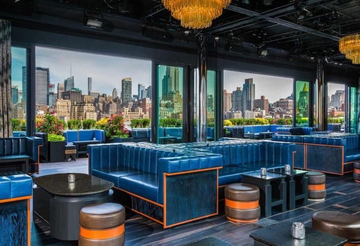 best rooftop bars nyc - PH-D rooftop bar at dream downtown hotel