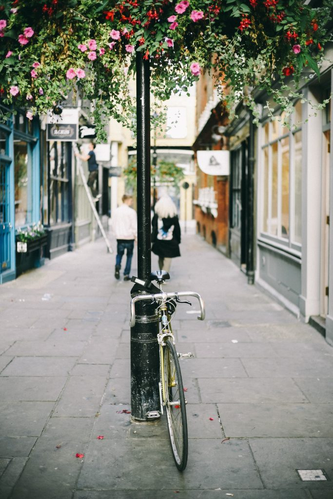 a street in london with a bike - 48 hour luxury trip to london