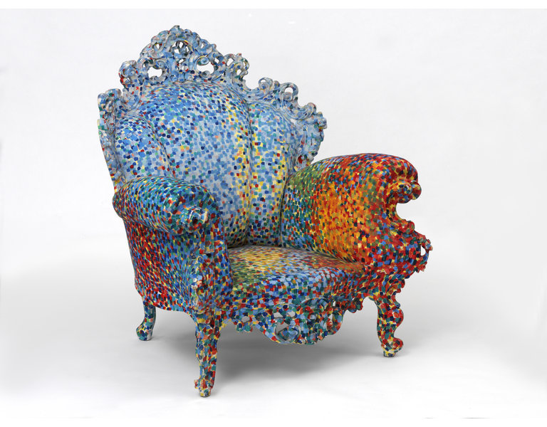 Poltrona di Proust chair by Alessandro Mendini - camp and kitsch furniture