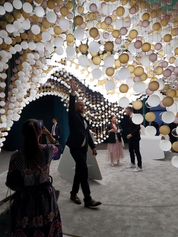 carousel of light by preciosa lighting at euroluce 2019