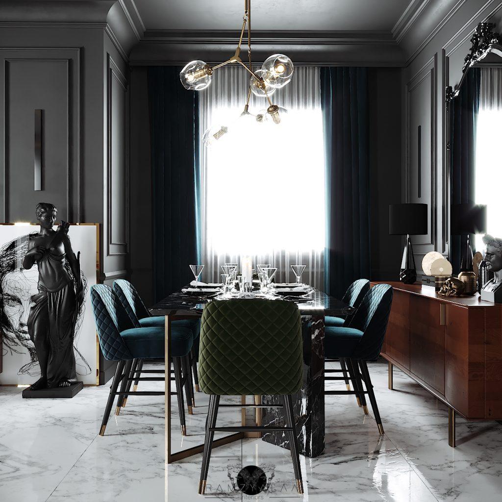 Ramzy Alaa luxurious dining room tips - interior design tips
