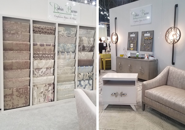 furniture and rugs by robin baron at icff 2019