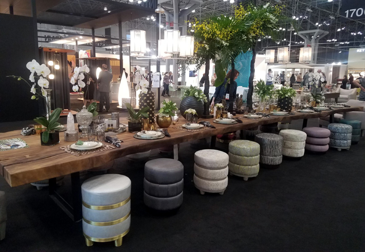 Table Setting Installation at ICFF 2019 Designed by Robin Baron, Table Linens by Kim Seybert and Porcelain by Daniel Levy
