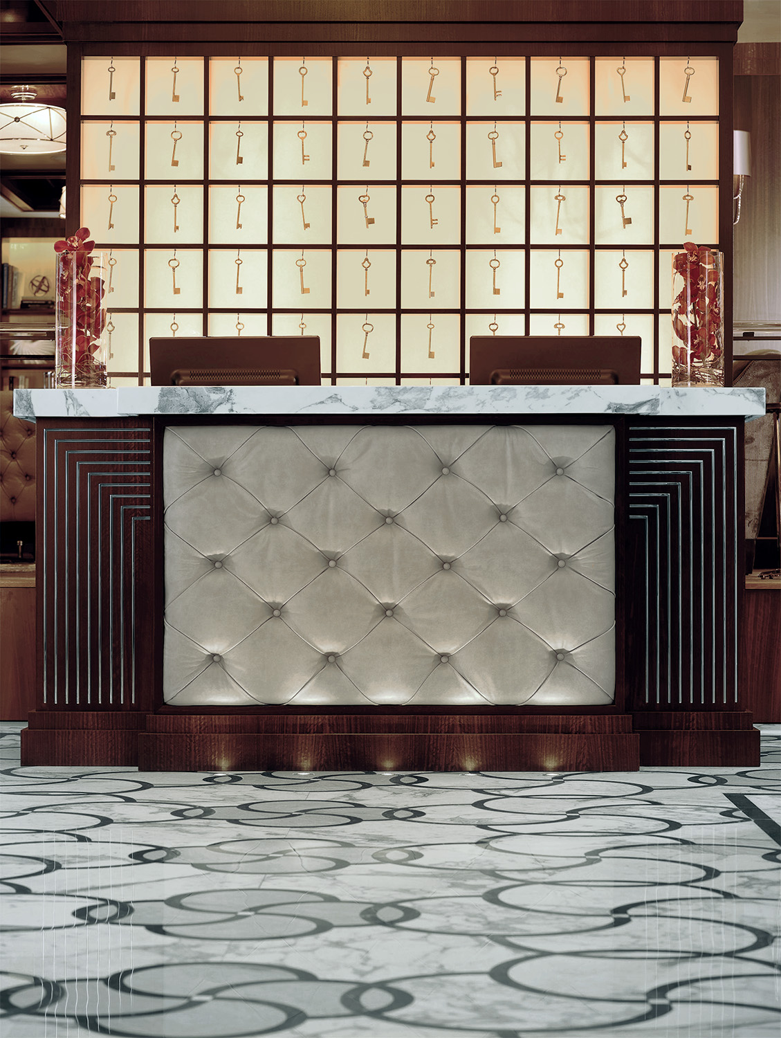 Art deco style Lobby Reception Desk at WestHouse New York