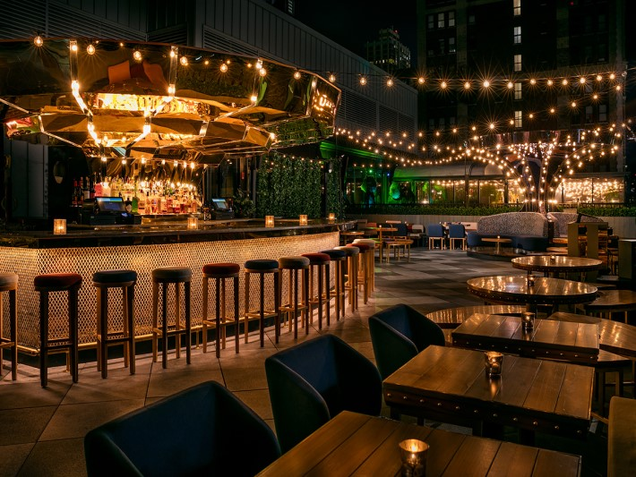 best rooftop bars nyc - magic hour rooftop bar & lounge moxy nyc times square