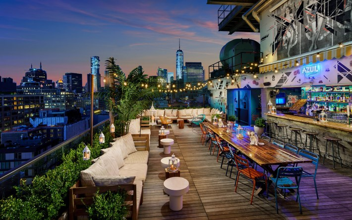 Best rooftop bars in NYC - Azul on the Rooftop at hotel hugo