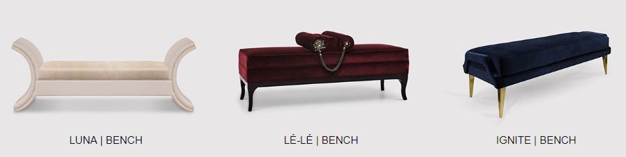 elegant benches by koket