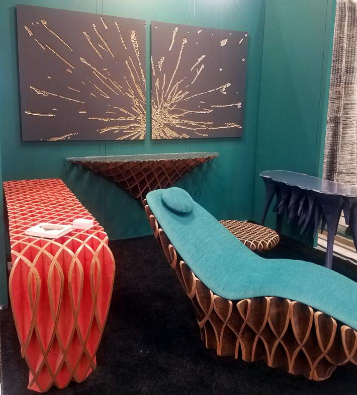 bones studio by ryan dart furniture art at icff 2019