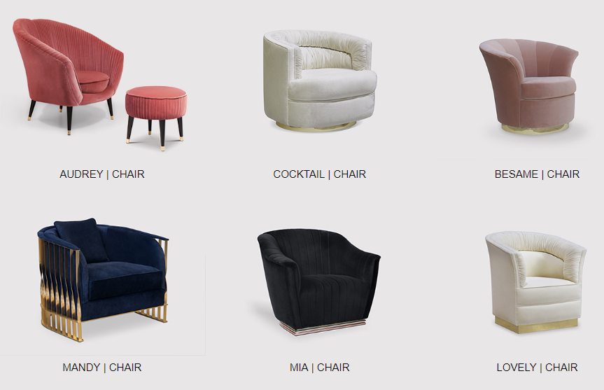 elegant accent chairs by koket