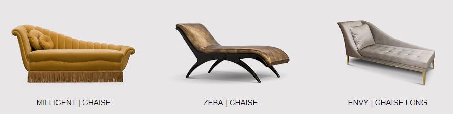 elegant chaises by koket