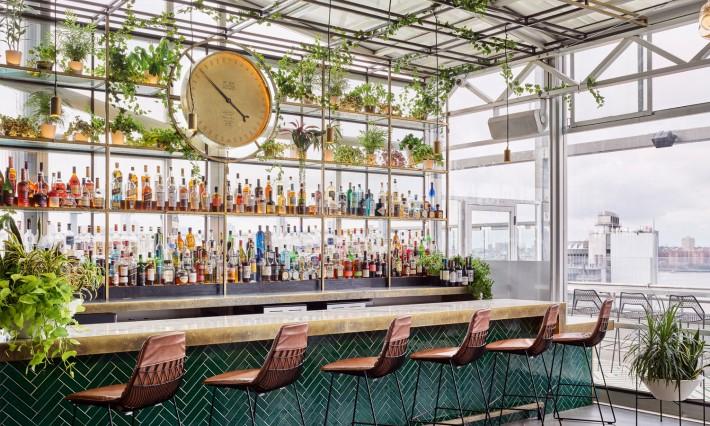 best rooftop bars nyc - lelie rooftop at ganesvoort meatpacking