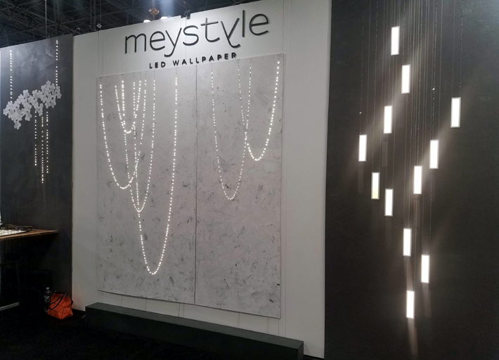 meystyle led wallpaper and fabrics at icff 2019