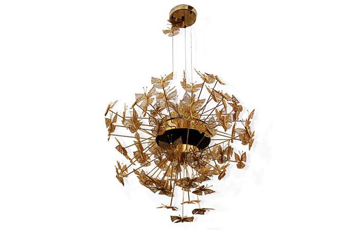nymph chandelier with butterflies by koket - camp and kitsch lighting
