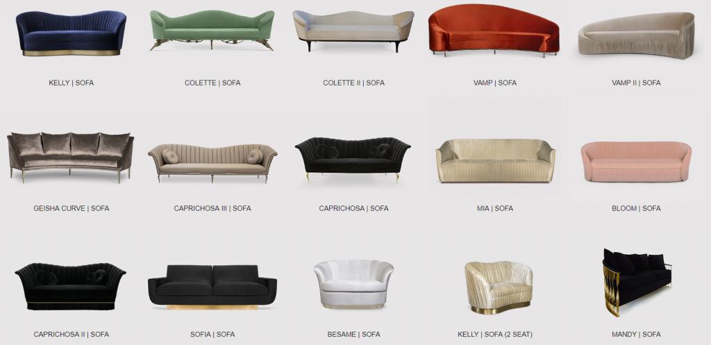 elegant sofas by koket