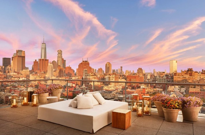 best rooftop bars nyc: the roof at public hotel