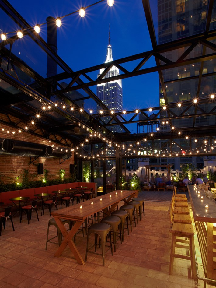 Best rooftop bars nyc - Refinery Rooftop bar refinery hotel