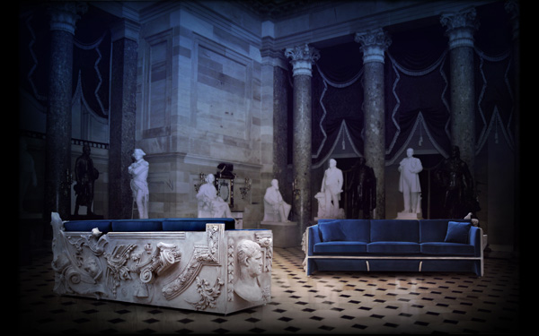 Versailles Sofa by Boca do Lobo - camp and kitsch furniture