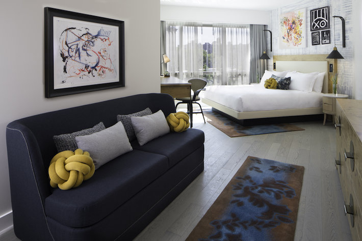 Sofa area of Hotel 50 Bowery Suite