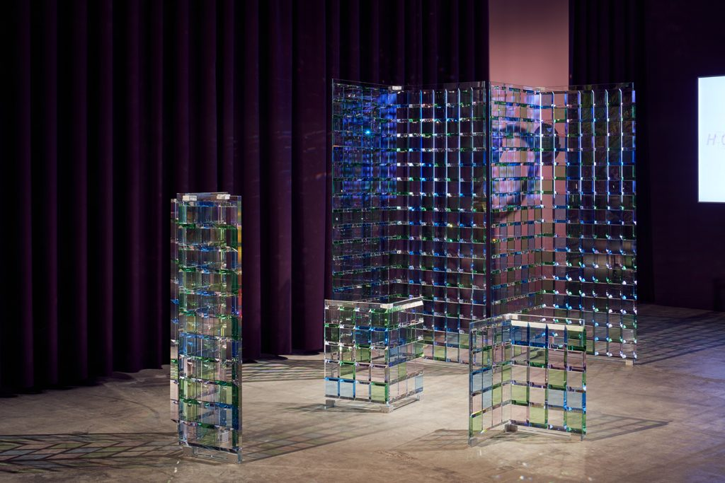 Atelier Swarovski, Slanted Tiles by Study O Portable, 2018 at Design Miami Basel 2019