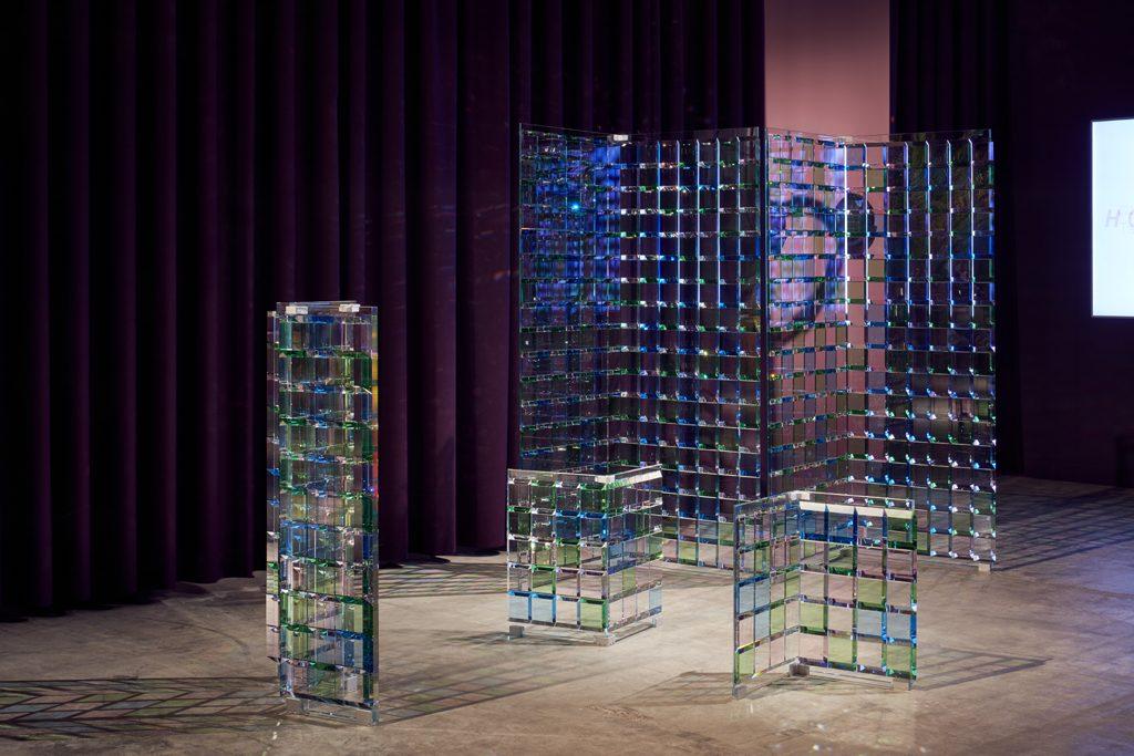 Atelier Swarovski, Slanted Tiles by Study O Portable, 2018 at Design Miami Basel 2019