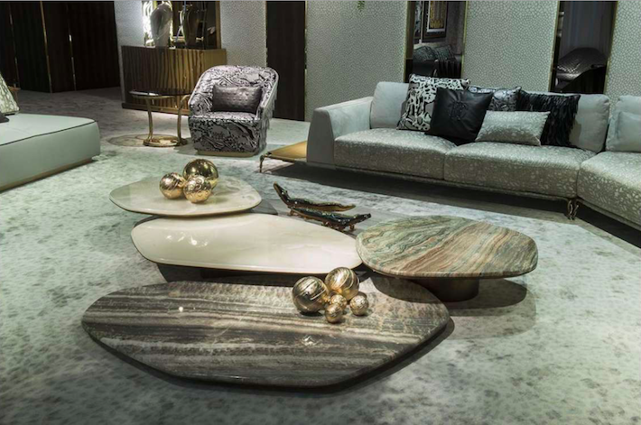a marble cocktail table by roberto cavalli home 2019