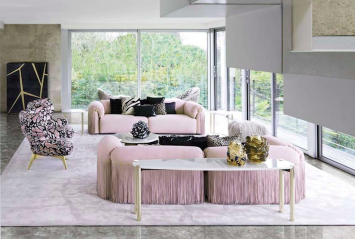 Robert Cavalli Luxury Living Room Furniture