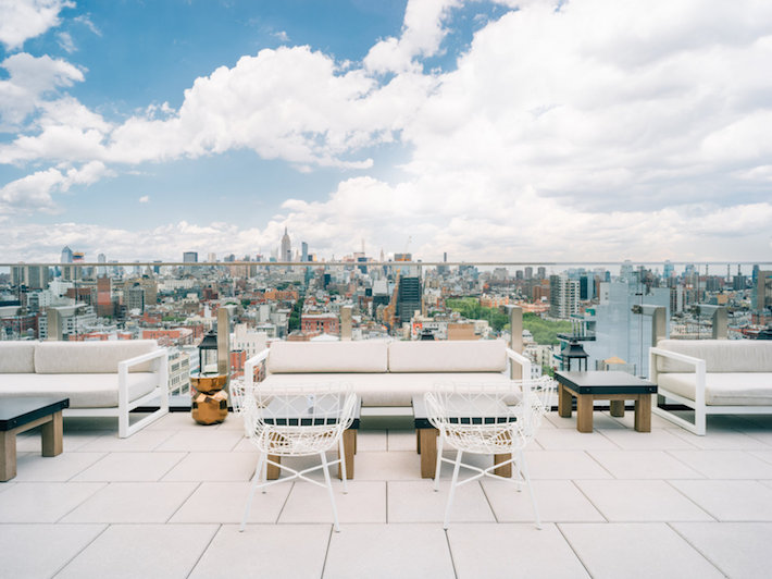 The Crown, rooftop bar, at Hotel 50 Bowery with a view