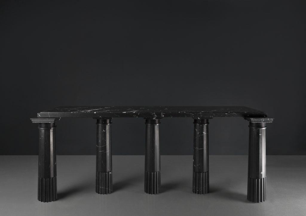 Untitled II (Console 5 pieds - Nero) by Karl Lagerfeld at Carpenters Workshop Gallery at Design Miami Basel 2019