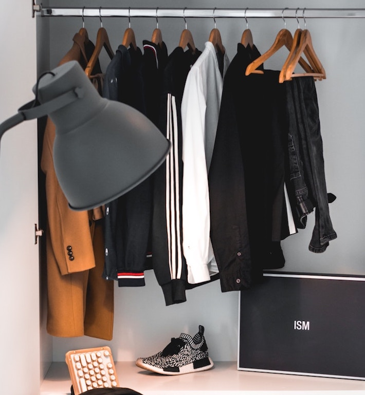 wardrobe showing how to wear the athleisure trend