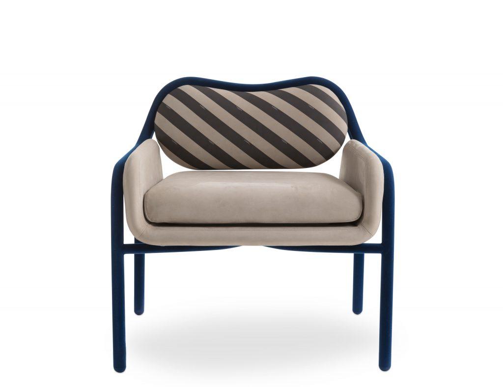 FENDI Casa Back Home Flaminia Lounge Chair Design by Cristina Celestino