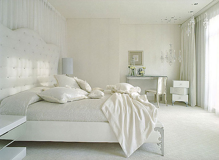 Neutral Bedroom for a High Fashion Home
