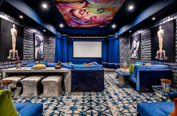 Barbara Ostrom- Home Cinema Holiday House Hamptons