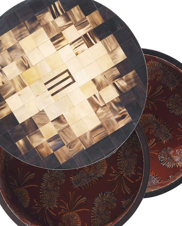 Detail Shot of the Aleppo small table by Etro home