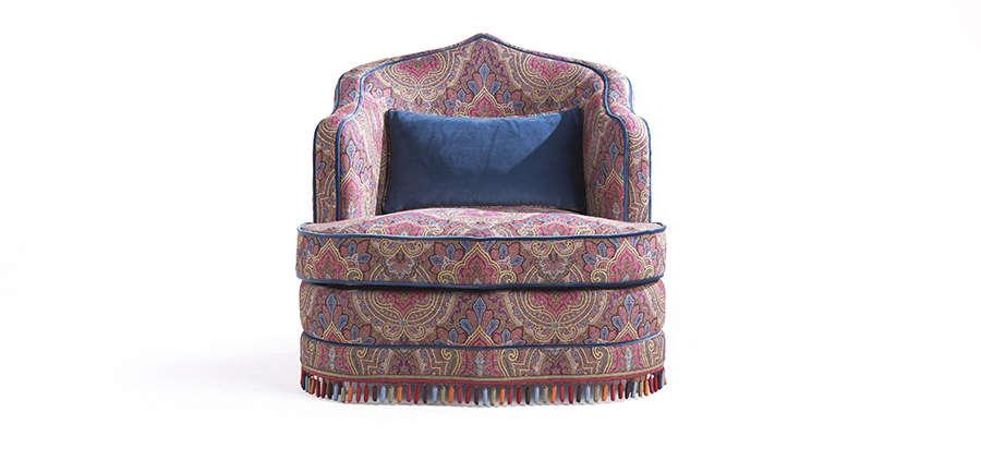 amina armchair by etro home interiors