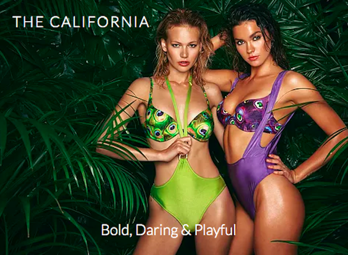 The California Collection by Afina London luxury swimwear