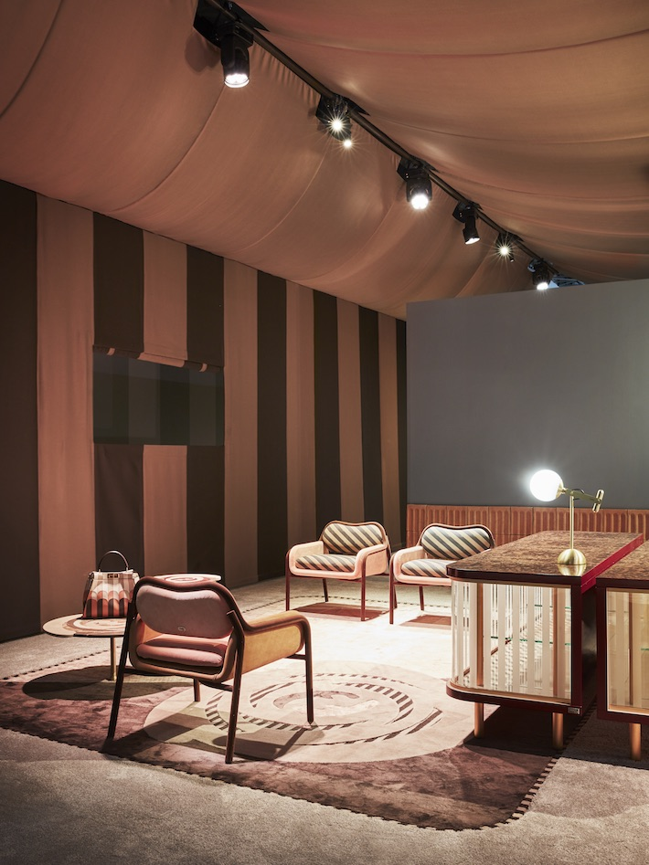 Set up of the Back Home collection by Cristina Celestino