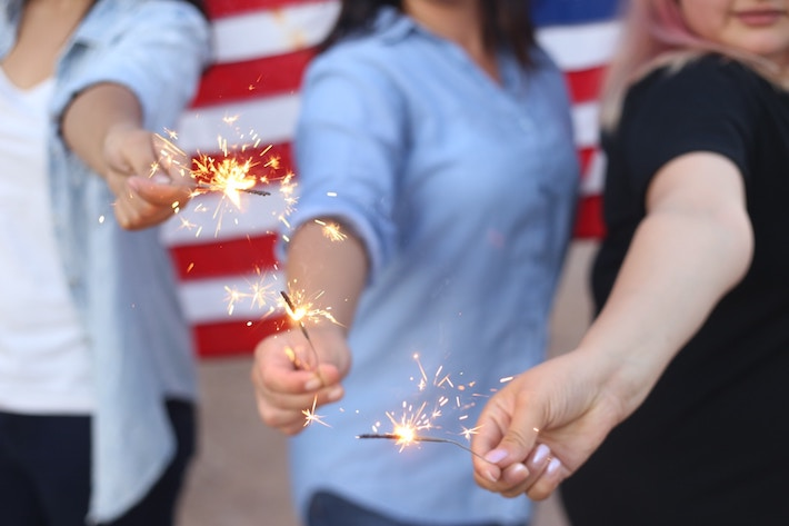 Personal Declaration of Independence, Women with Sparklers