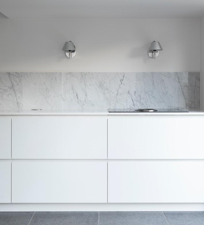 Rich Textures: marble kitchen