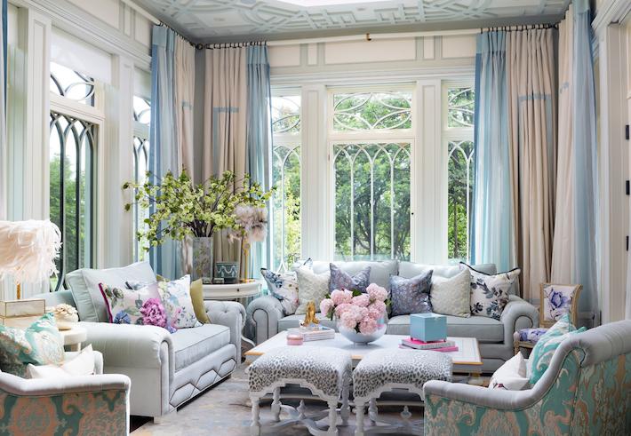 Room Design by Lori Morris for a High Fashion Home