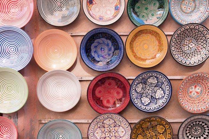 Morocco Shopping Guide Plates